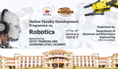 EEE conducts AICTE funded five-day FDP on Robotics