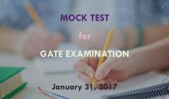 Mock test for GATE 2017