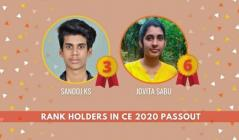 Third and sixth ranks in University : Proud moment for CE Dept