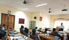 A talk by the Adjunct faculty Mr.Sanjeev G Menon