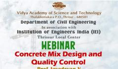 CE Dept conducts webinar on �Concrete Mix Design and Quality Control�