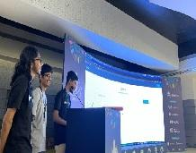 Student wins prize in an international hackathon