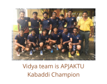 Vidya team is APJAKTU Kabaddi Champion