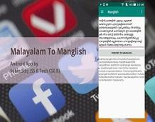 Android app to translate Malayalam to Manglish