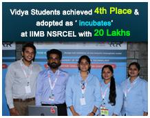 VIDYA Students selected as Incubatee of NSRCEL@ IIMB