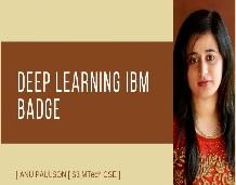 Student secures IBM Badge in Deep Learning