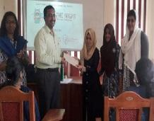 CSE students won first prize in Women Hackathon