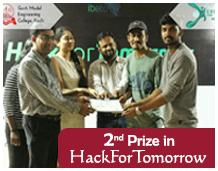 CSE Students bagged 2nd Prize in HackForTomorrow