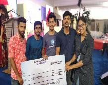 Students win First prize in FISAT Software Hackathon