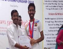 Student wins Prizes in National Yogasana Championship