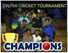 Vidya's Cricket Team wins Dyuthi Cricket Tournament