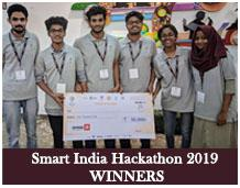 CSE students wins 1st prize in Smart India Hackathon'19
