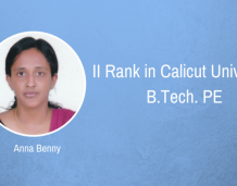 PE student secures Second Rank in Calicut University