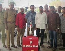 Students present Mission Agni @ Fire and Rescue Academy