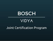 BOSCH-VIDYA Joint Certification Program